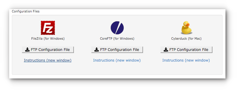 FTP Configuration File