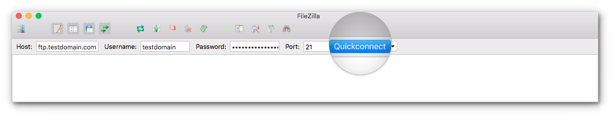 FTP via Filezilla