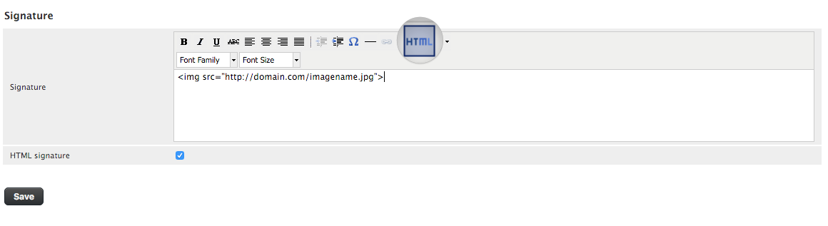 Insert Image on Your Roundcube Webmail Signature