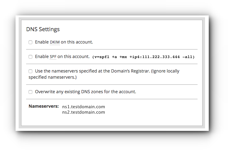 create-cpanel | register custom name servers