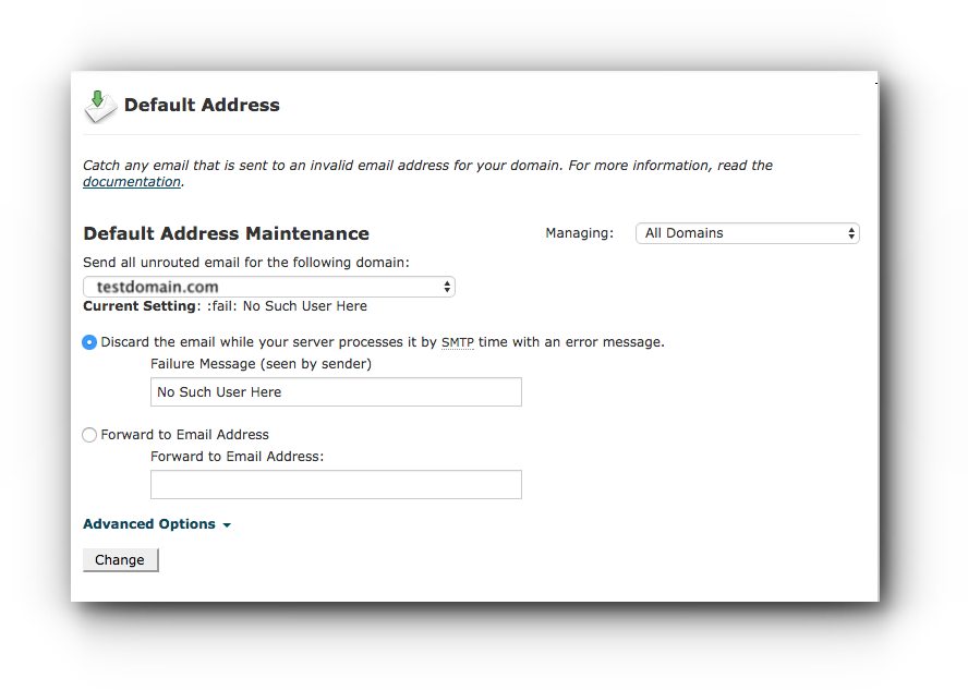 default-address-maintenance