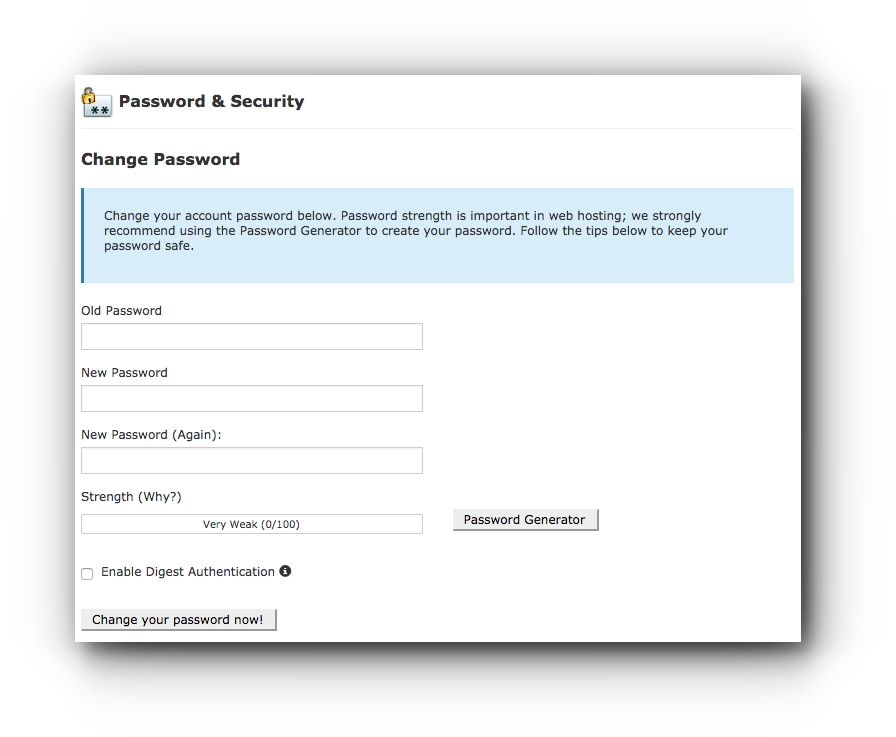 cpanel-change-password