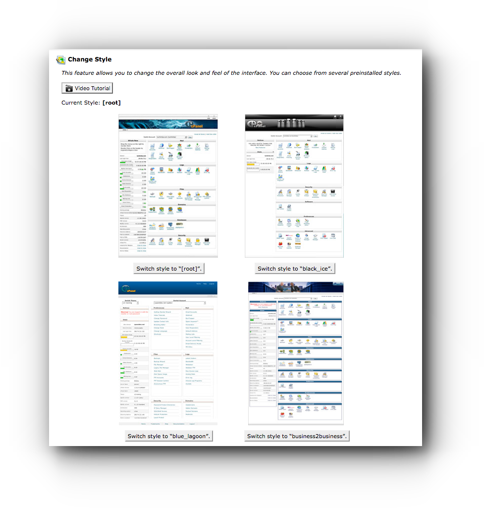 change-style-cpanel-theme