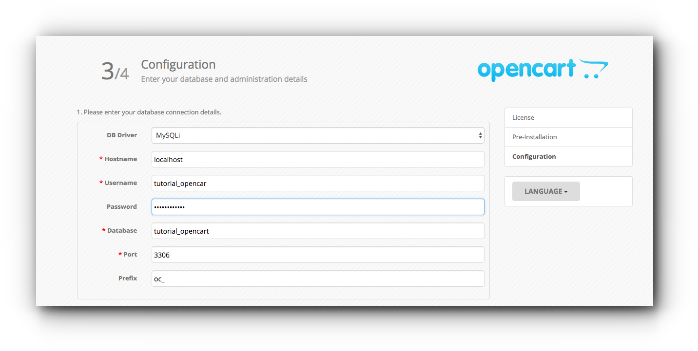 opencart-configuration
