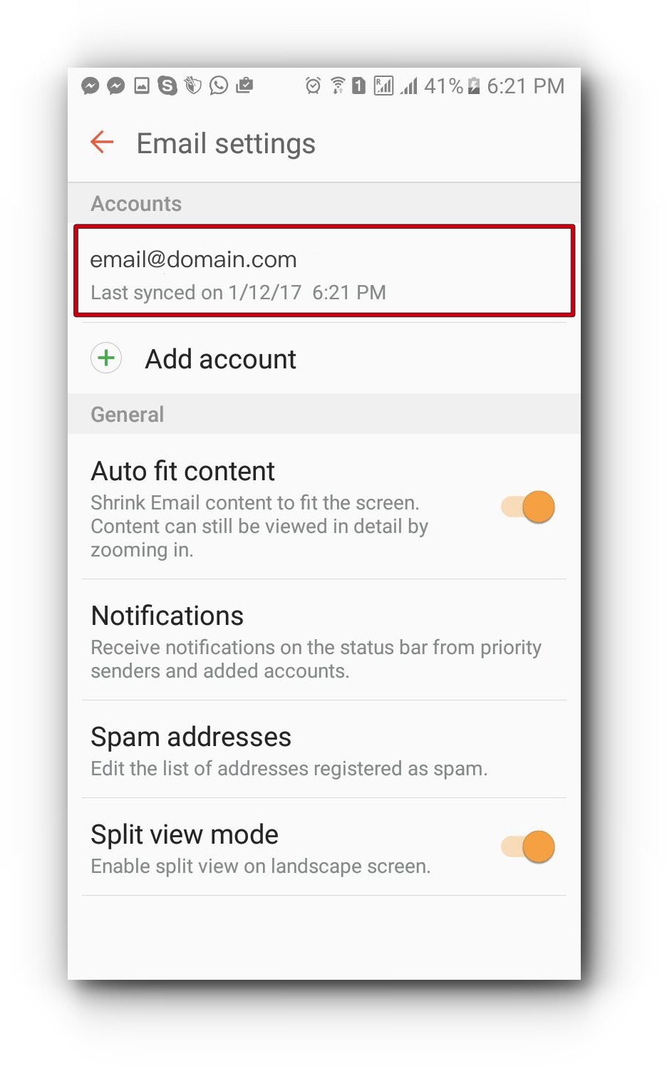 samsung-email-settings