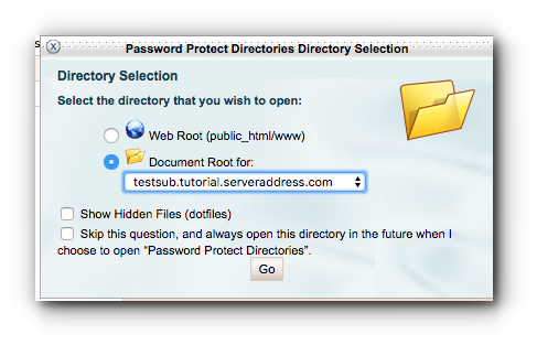 select-directory-password-protect