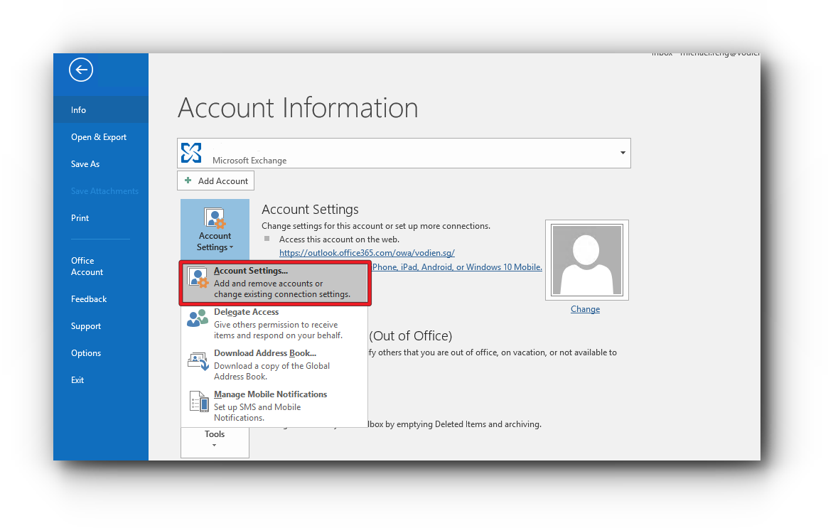 Edit Mail Server Settings for Microsoft Exchange – Knowledge