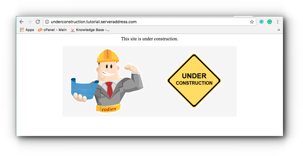 Create Under Construction Page For Your Website Knowledge Base