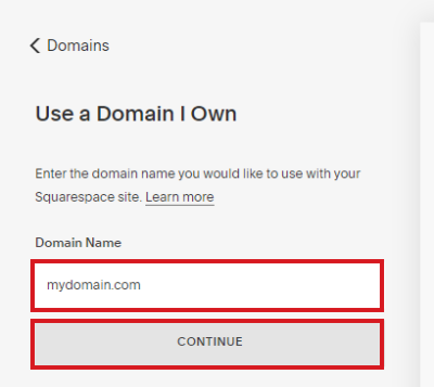 type own domain