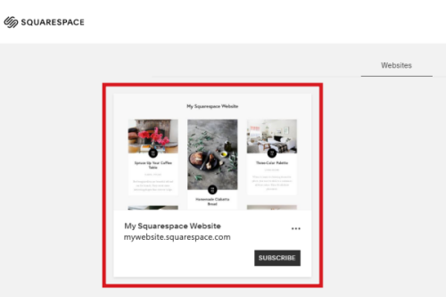 connect domain to Squarespace