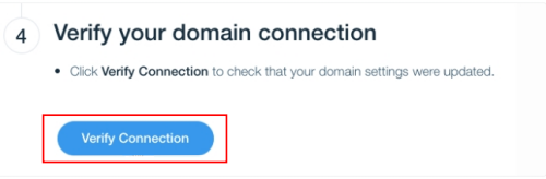 Wix verify domain name