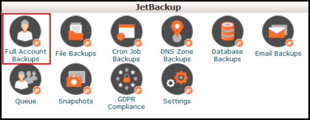 jetbackup full accounts backup vodien cpanel