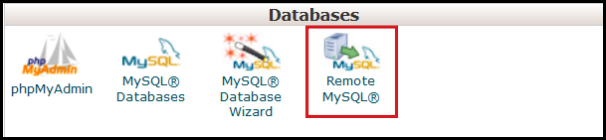 remote access for mysql via cpanel vodien