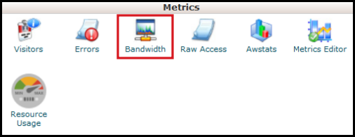 bandwidth metrics panel vodien web hosting
