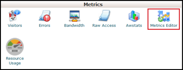 enable awstats via vodien cpanel metrics panel editor
