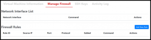 Manage Firewall Tab