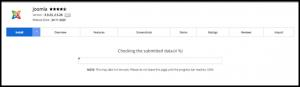 Joomla Installation Page Progress Bar