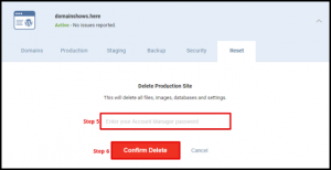 Confirm Delete Button in WordPress Hosting