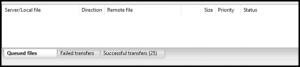 FileZilla Progress Bar