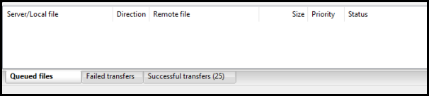 FileZilla Progress Bar