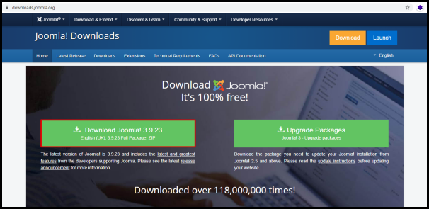 Joomla Download Button