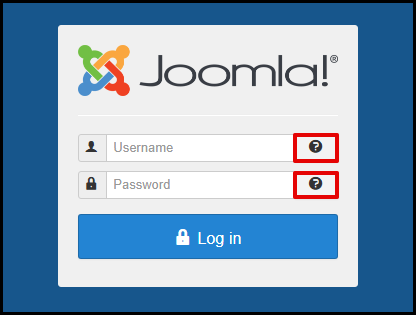Joomla Login Page with Forgot Your Login Button