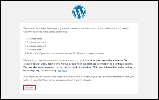 WordPress Database Instructions