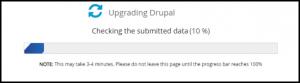 Update Progress of Drupal via Softaculous