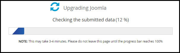 Updating Joomla Page in Softaculous