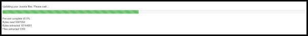 Joomla Update Progress in Administration Page