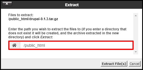 Enter Where to Extract Files
