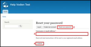 Drupal Reset Your Password Page