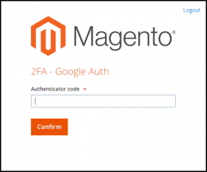 Magento Two Factor Authentication Page