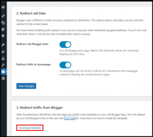 Download Redirection Template for Blogger