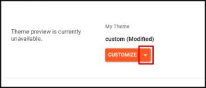 Customize Drop Down Options