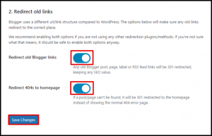 Blogger Redirection Buttons