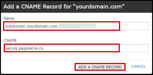 Adding Instapage CNAME in cPanel