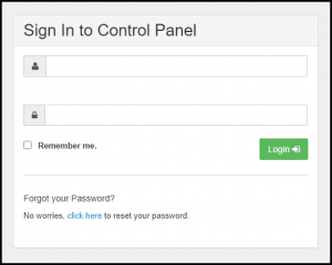 Exchange Control Panel Login Page