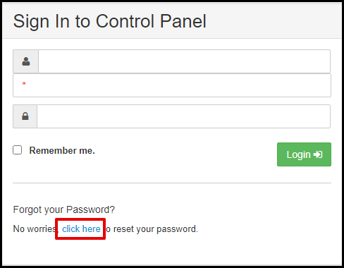 Exchange Manager Forgot Your Password Link