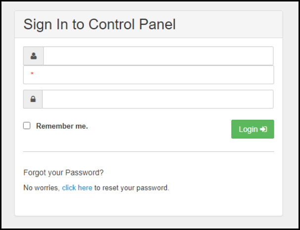 Exchange Manager Login Page