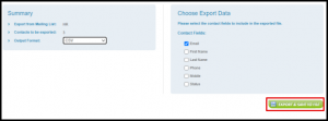 Export and Save to File Button