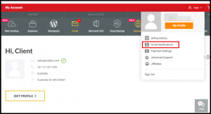 Vodien Email Notifications Option