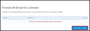 Add Domain Forwarder Button in Hosting Manager