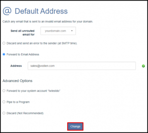 Change Button to Save Default Address