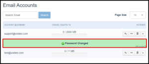 Hosting Manager Email Password Changed Message
