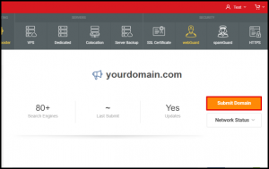 Submit Domain Button in Vodien Account Manager