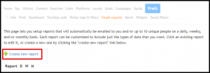 Create New Email Report in Web My Stats Page