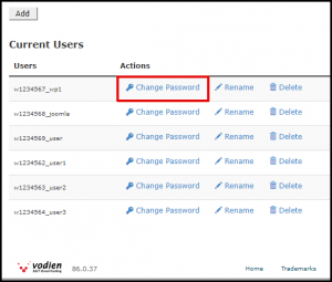 Change User Password in MySQL Databases