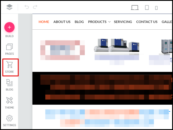 Store Option in Sitebeat Editor