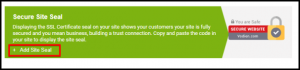 Add Site Seal Link in Vodien Account Manager